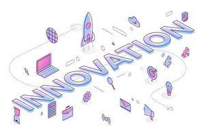 Business Word innovation vector