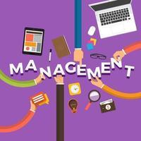 Hand Text Management vector