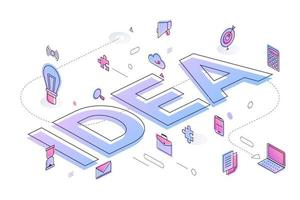 Business Word Idea vector