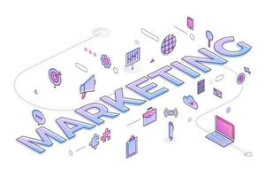 Business Word Marketing vector