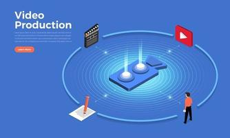 Video production illustrate vector