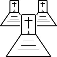 Line icon for graveyard vector
