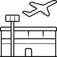 icono de línea para aeropuerto vector