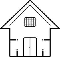 Line icon for house vector