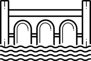 icono de línea para puente vector