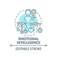Emotional intelligence turquoise concept icon vector