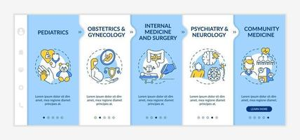 Family medicine components onboarding vector template