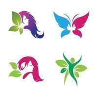 logotipo de peluquería y salón de belleza vector