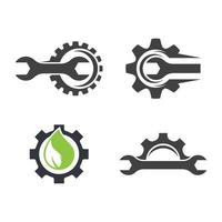 Gear logo images vector