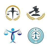 Law firm logo images illustration vector