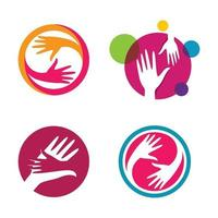 Hand logo images vector