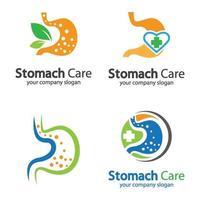 Ilustración de imágenes de logo de estómago vector
