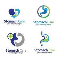 Stomach logo images illustration vector