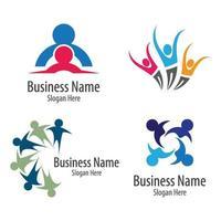 diseño de imágenes de logotipo de atención comunitaria vector