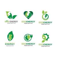 Eco energy logo images vector