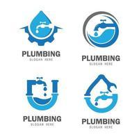 imágenes de plomería logo vector