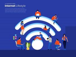 Lifestyle internet user vector