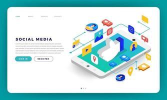 Social Media Cocept vector