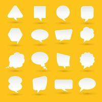 Los iconos de diseño plano establecen un mensaje de burbuja para el texto. ilustraciones vectoriales. vector