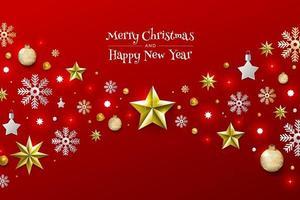 Xmas and happy new year vector