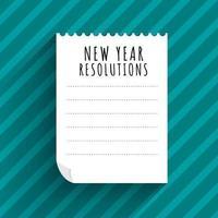 propósitos de año nuevo vector