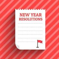 new year resolutions vector