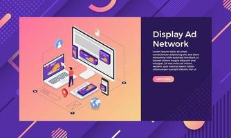 Display ad network web design vector
