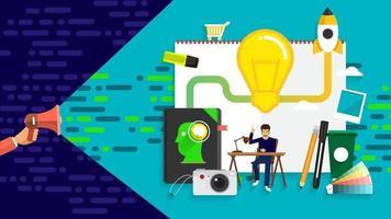 banner de marketing digital vector
