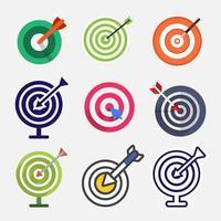 conjunto de iconos de destino vectorial vector