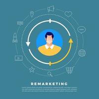 Remarketing digital marketing vector