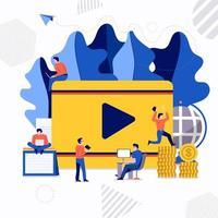 Teamwork video creator vector