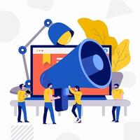 Teamwork creative advertising vector