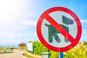 símbolo, no pasear perros firmar en parque público foto