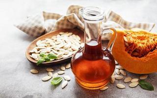 Bottle with pumpkin seed oil