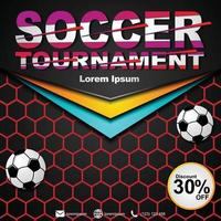Social media post template for soccer championship. Soccer championship 2020 poster. vector