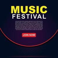 Music festival banner Template for Social Media Post , Web Ads, Poster. Music festival poster template. 3D background flyer for music festival. vector
