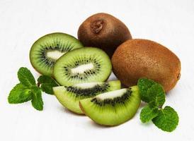 Kiwi fruit on a table photo