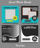 Gadget sale banner for social media post. Social media template for gadget store. Modern social template post banner. Gadget discount post template vector