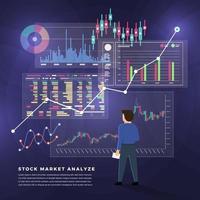 Stock trader exchange vector