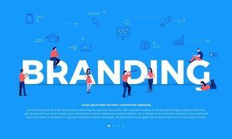 Teamwork building branding vector