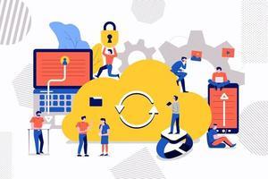 Teamwork Cloud Storage vector