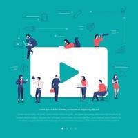 Social network teamwork vector