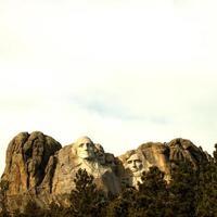 Sun shining on Mt Rushmore photo