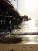 Boardwalk pier by the ocean