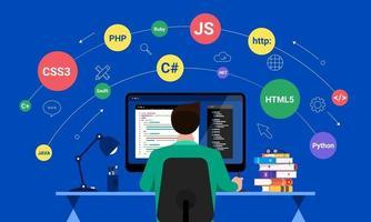 Web Designer and  Programmer vector