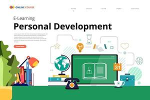 Online Course technology skill vector
