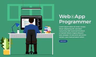 Web Designer and  Programmer vector
