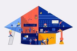 espacio de trabajo crear educación vector