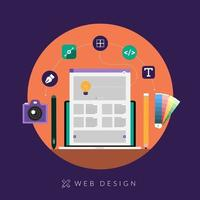 concepto de diseño web vector