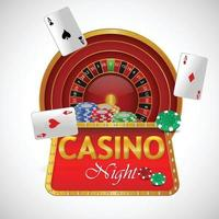 Realistic illustration of casino gambling game and background vector